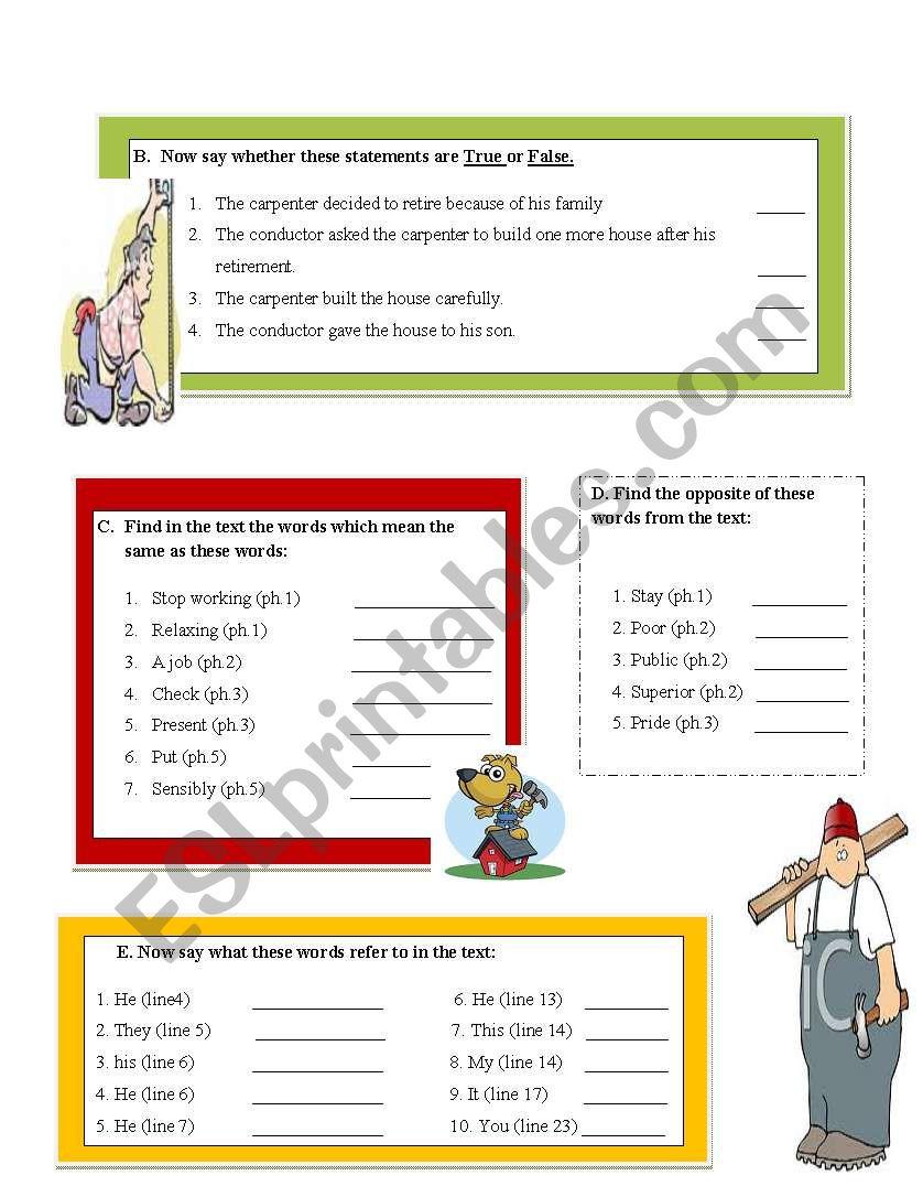 Reading comprehension worksheet building a house wise story esl reading comprehension worksheet building a house wise story esl worksheet by ibtisam1 ibookread Read Online