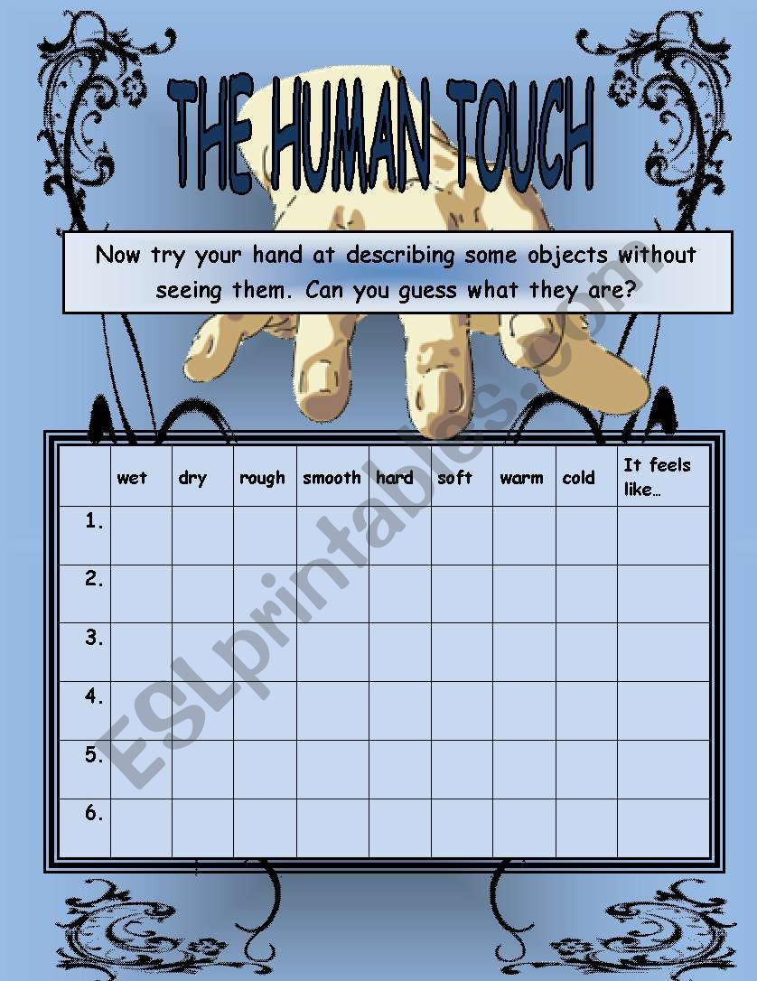 The Human Touch #3 worksheet