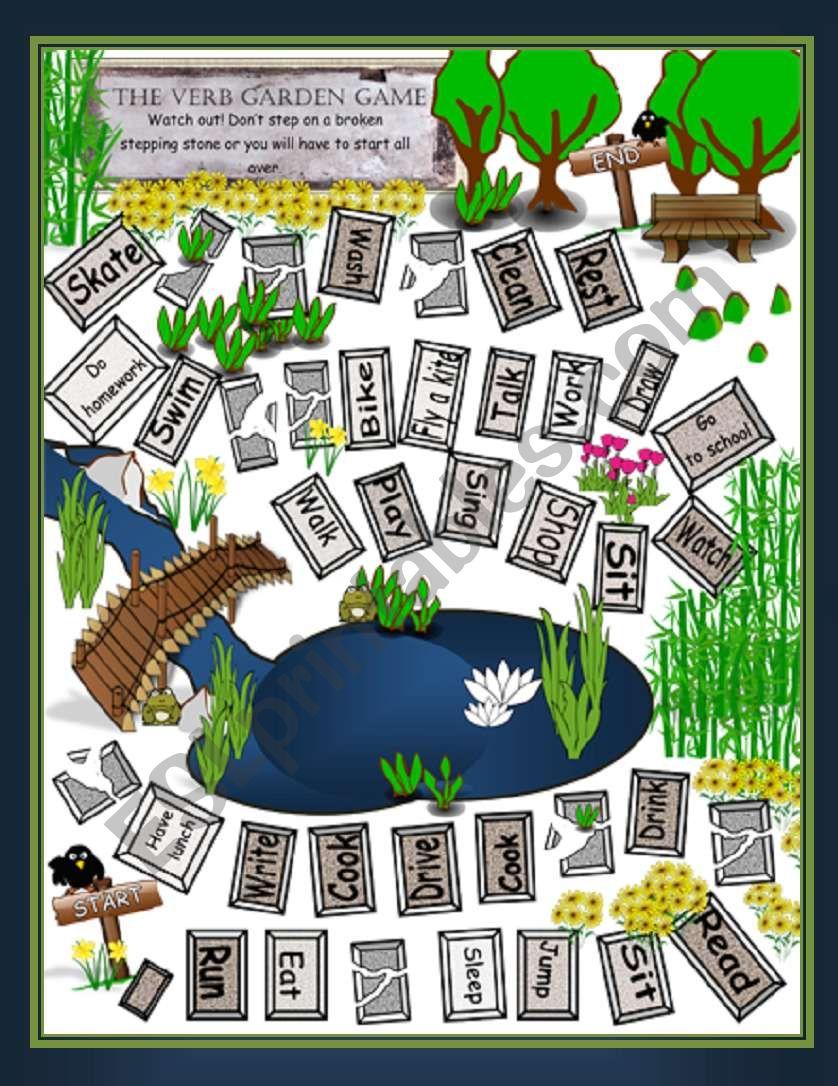 The Verbal Garden worksheet