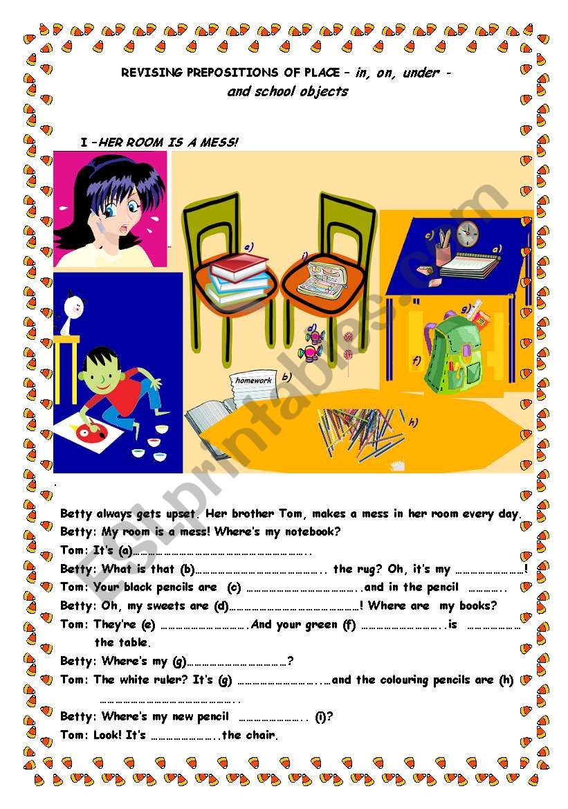 Preposition In Learn In Marathi All Complate: Revising Prepositions Of Place And Classroom Objects