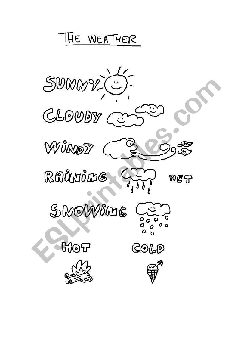 The weather for children worksheet