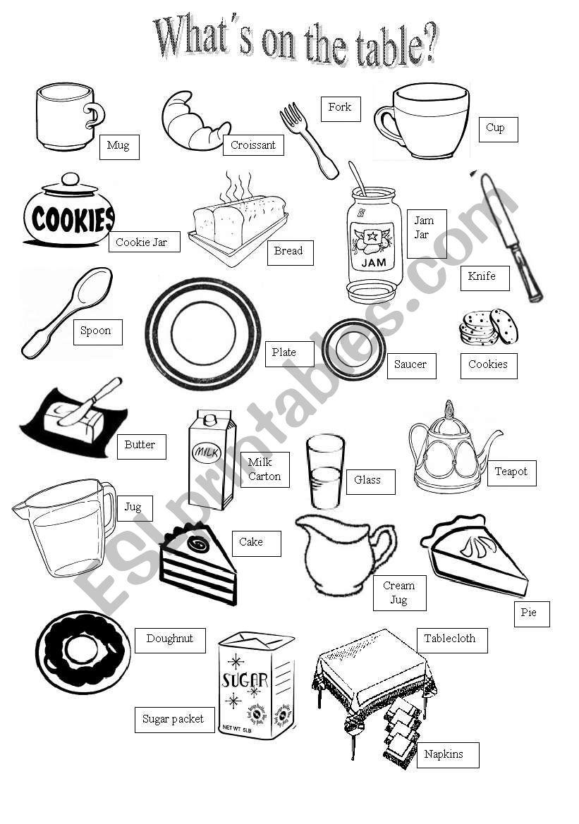 English tea vocabulary worksheet