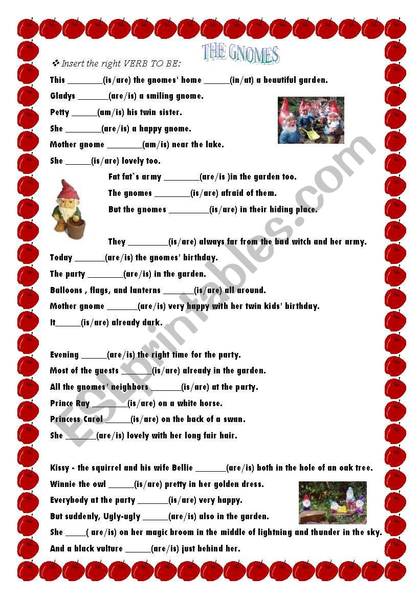 The gnomes worksheet