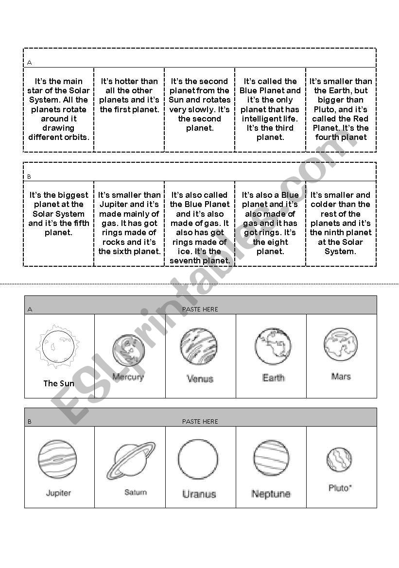 Planets and physical description machine