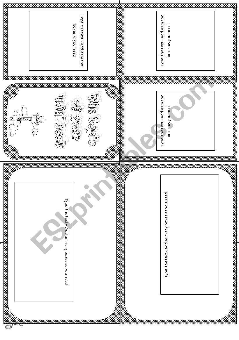 Minibook template worksheet