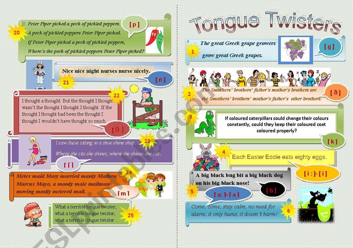 Tongue Twisters Minibook (Part 1)