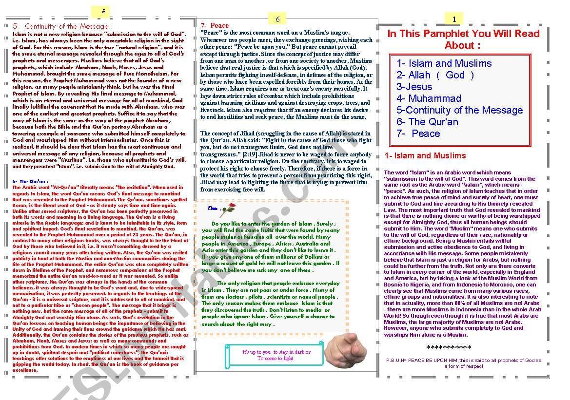 info worksheet