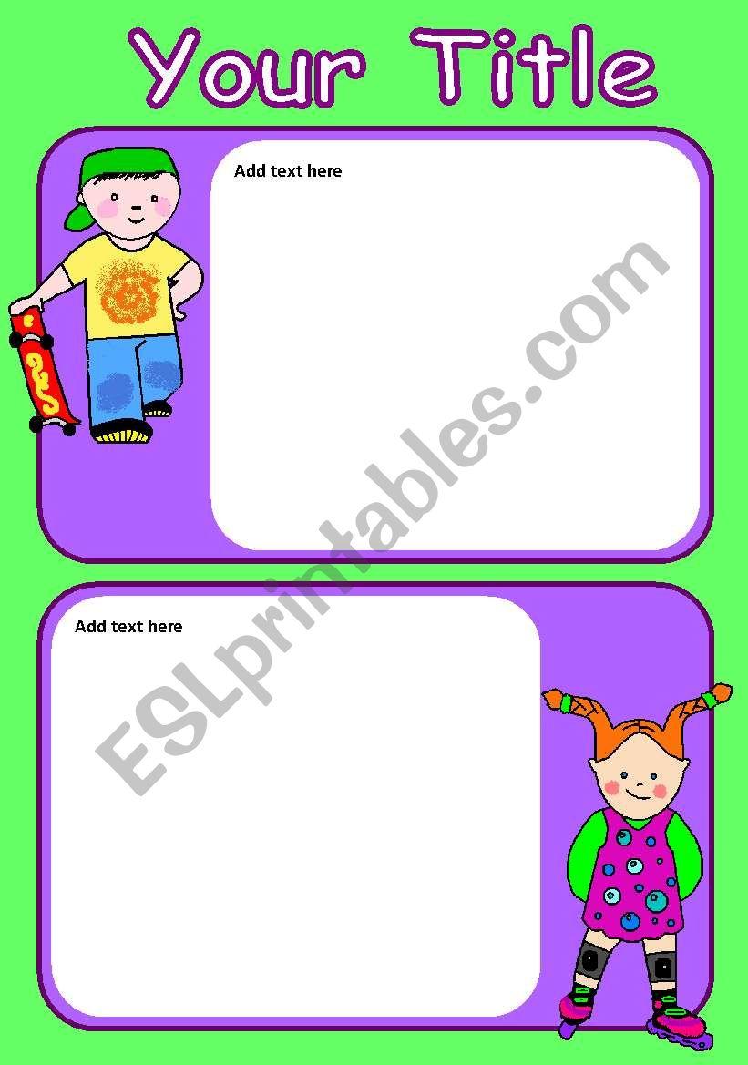 Active Kids worksheet
