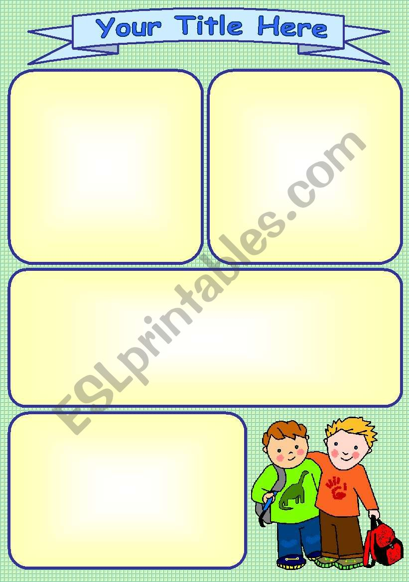 School Buddies Template worksheet