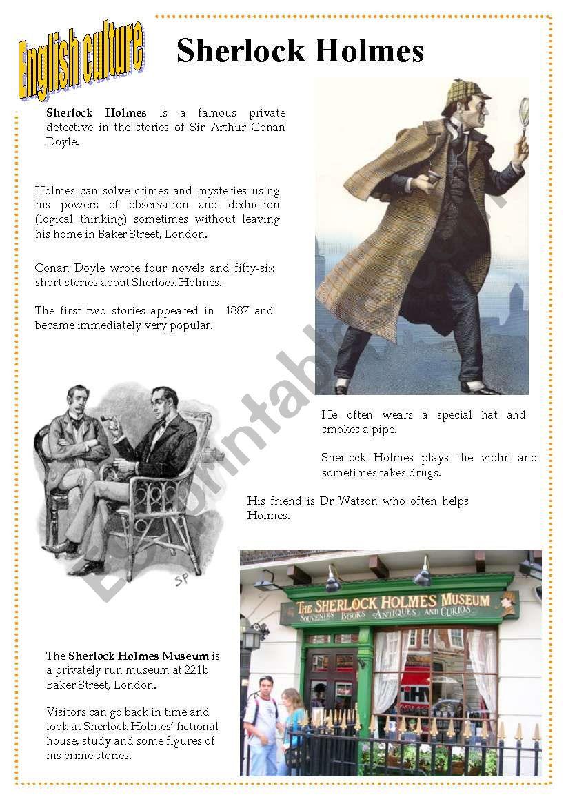 English culture 3 - Sherlock Holmes