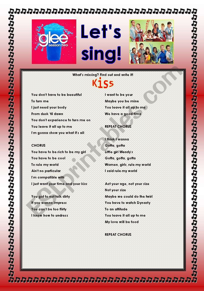 > Glee Series: Season 2! > Songs For Class! S02E15 *.* Two Songs *.* Fully Editable With Key! *.* Part 2/2