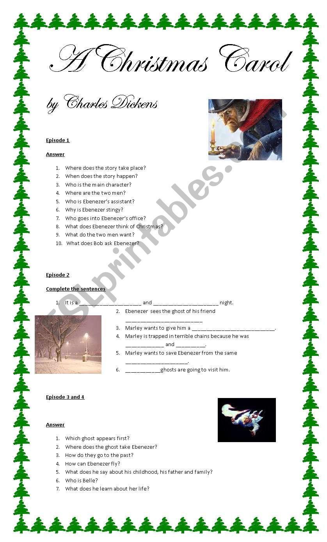 A Christmas Carol - ESL worksheet by camba