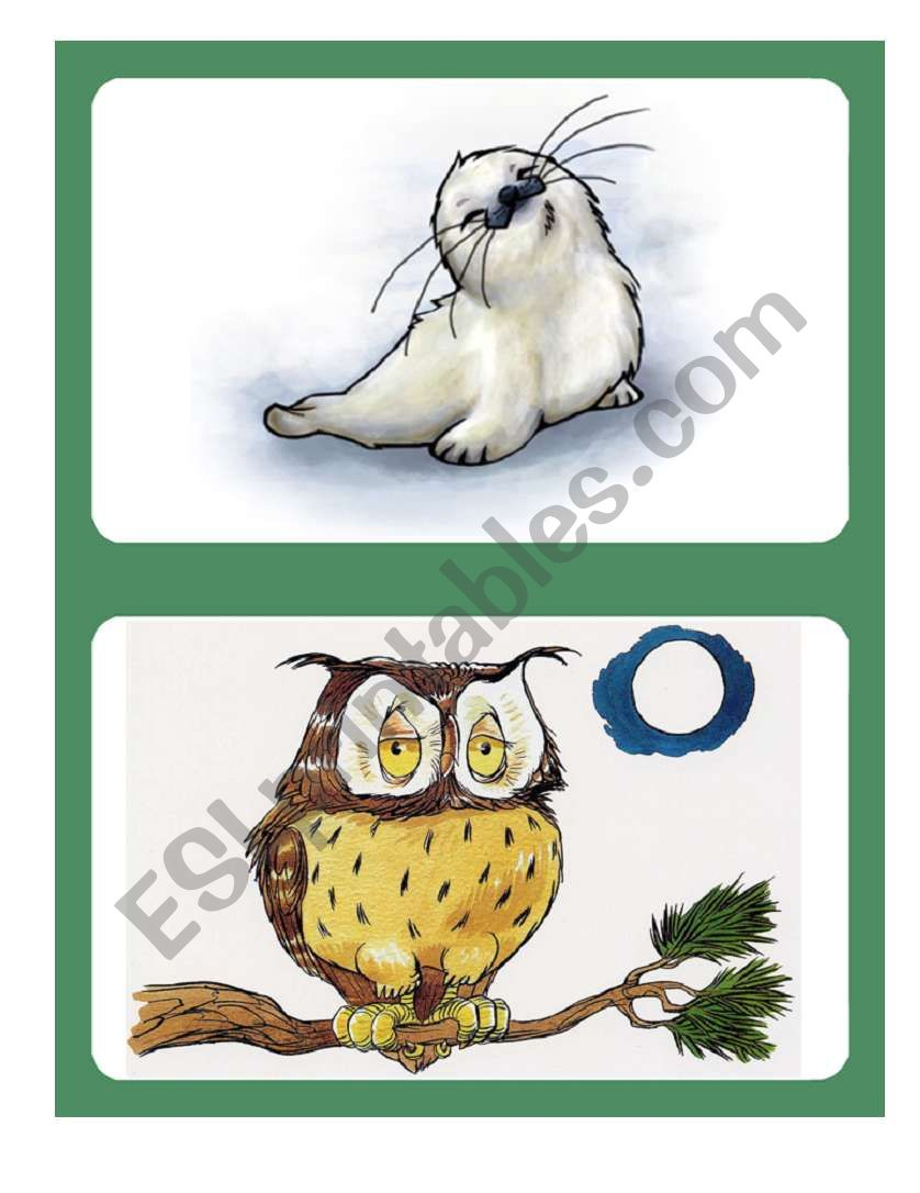 Flashcards - Animals 01/04 worksheet