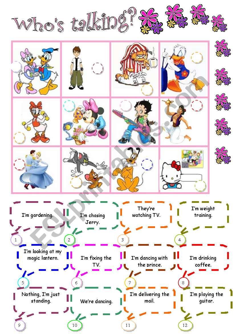 Toons in action worksheet