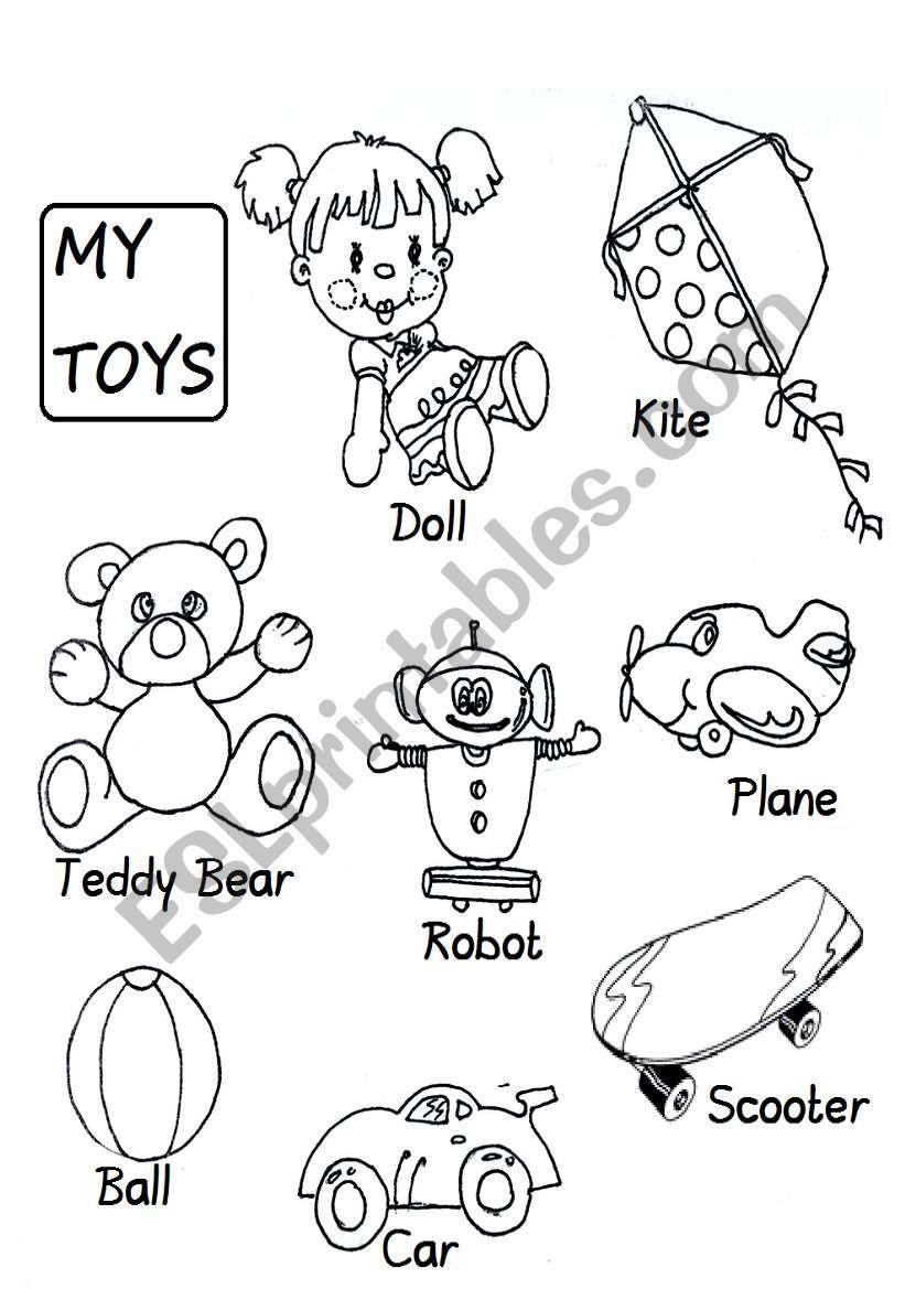 Toys For Grade 1 : Toys esl worksheet by aprilzoom