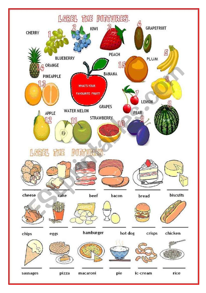 FRUIT,FOOD,CLASSROOM OBJECTS,JOBS,FAMILY,PHYSICAL APPEARANCE,PREPOSITIONS OF PLACE