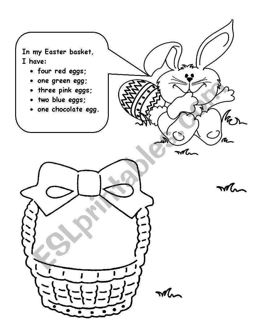 My Easter basket worksheet