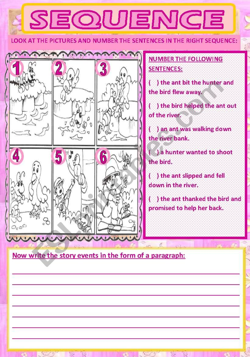 sequence #2 worksheet