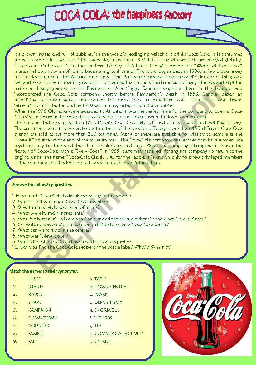 COCA COLA: THE HAPPINESS FACTORY