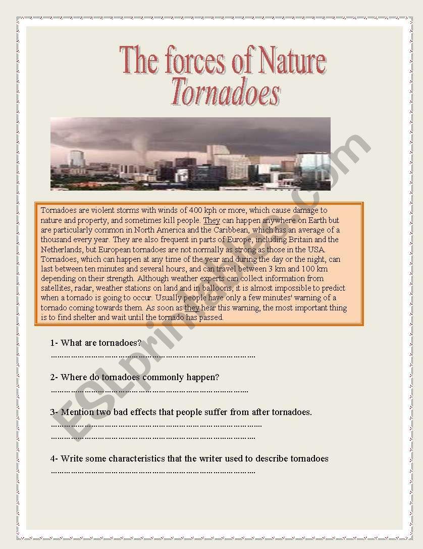 tornadoes worksheet