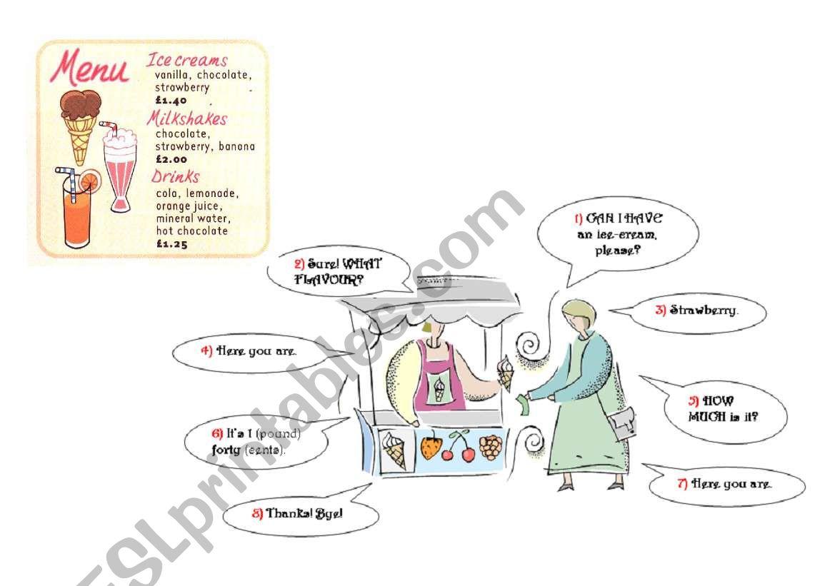 Simple Shopping Dialogue worksheet