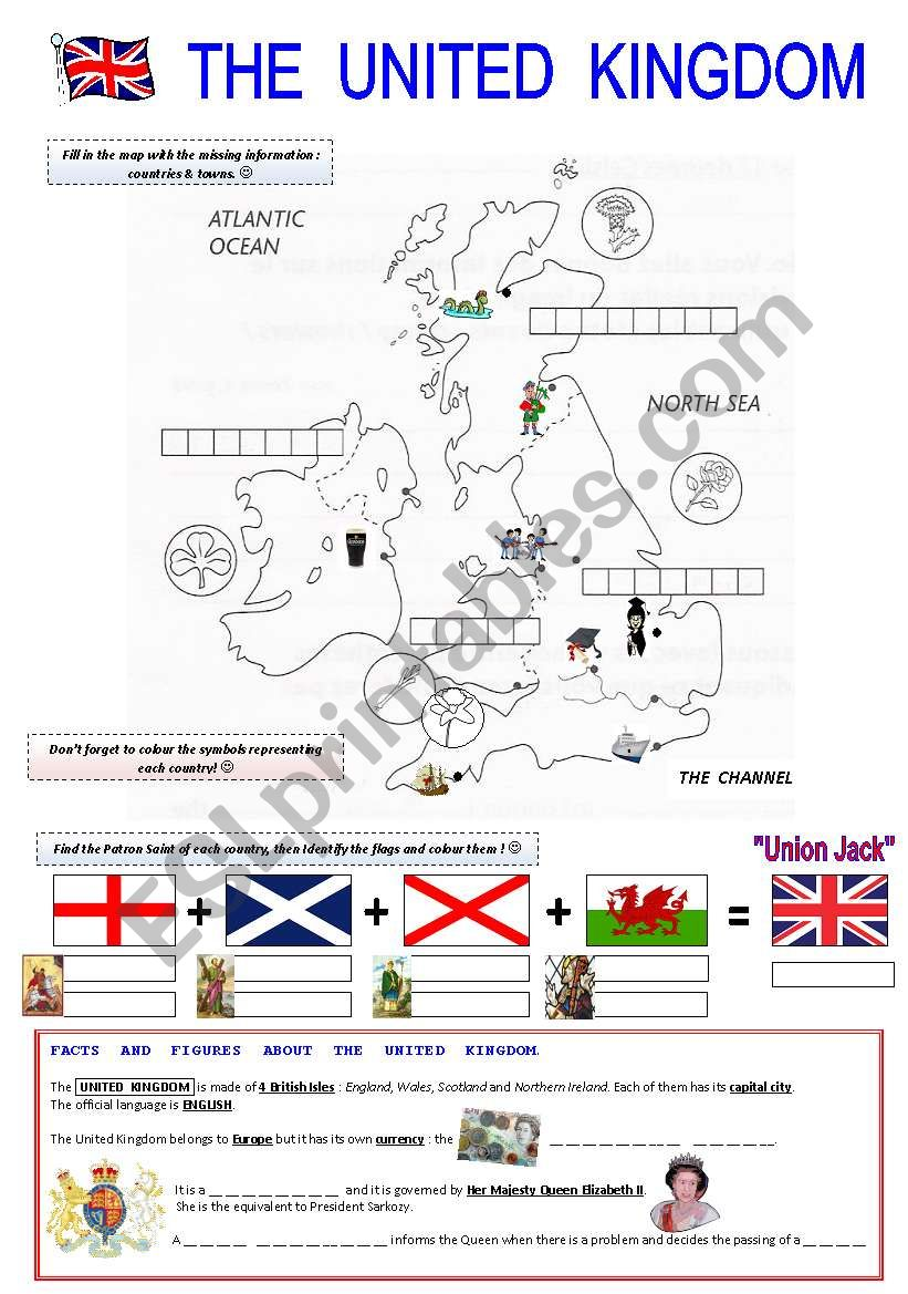 The United Kingdom worksheet