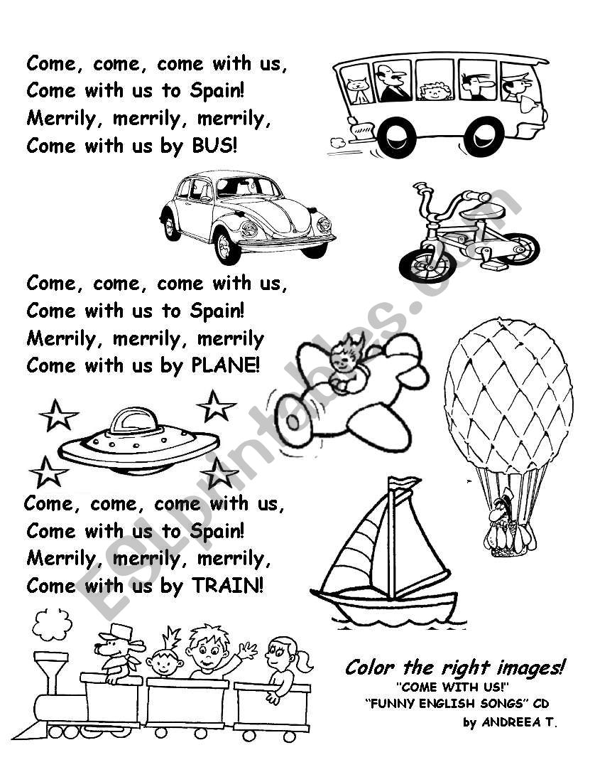 COME WITH US!!! worksheet
