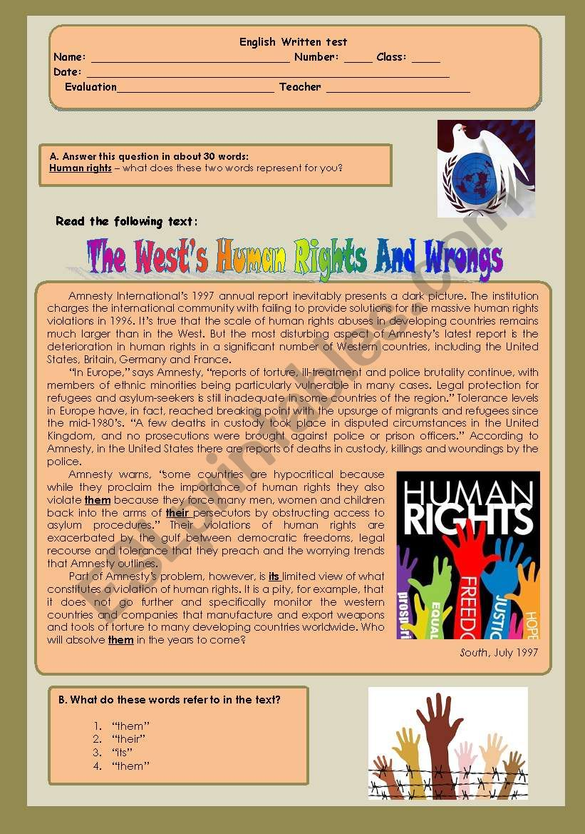 The West´s human rights and wrongs