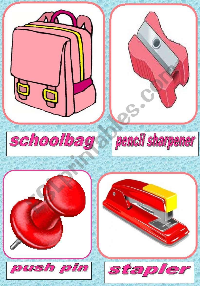 school items worksheet