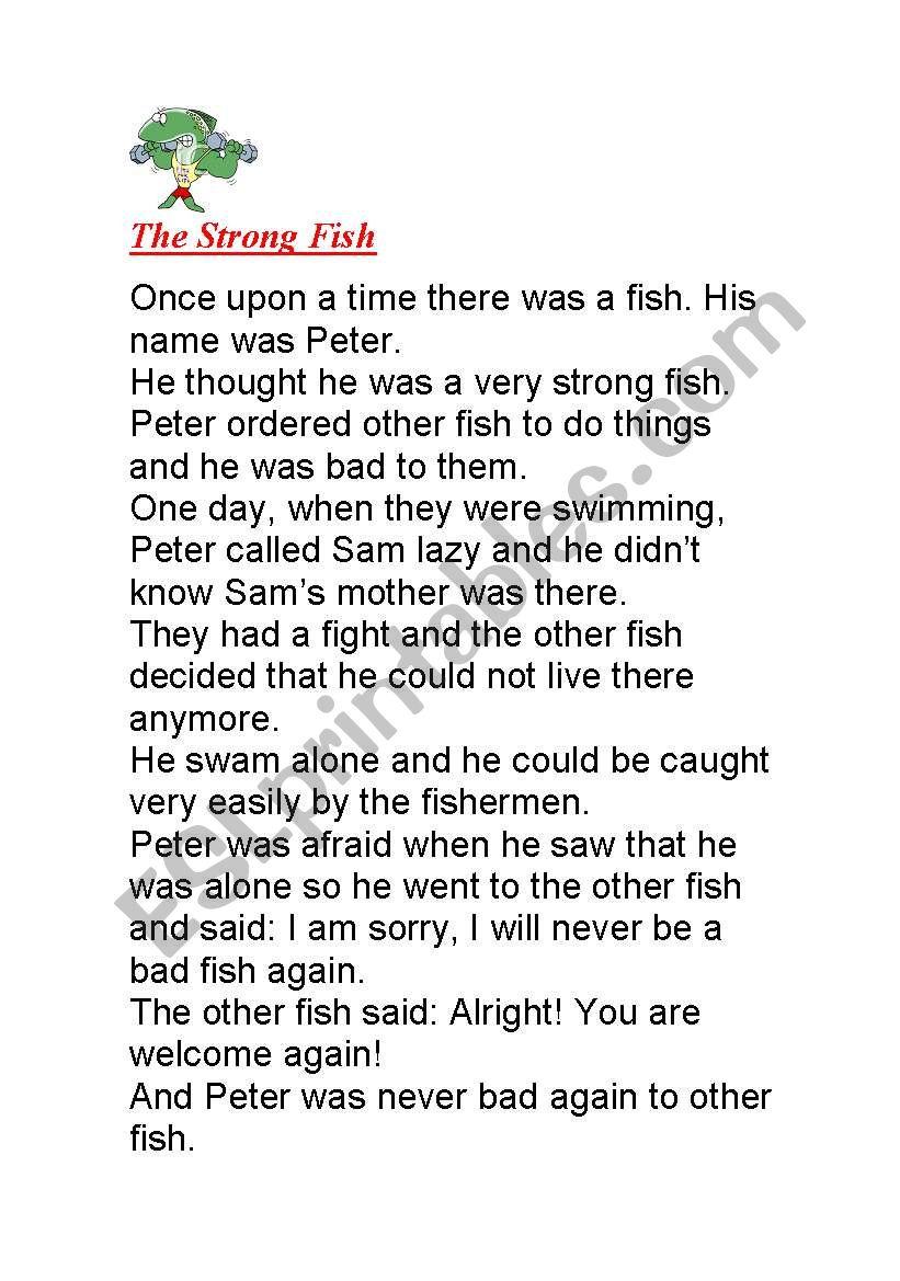 - Short Story - ESL Worksheet By Krissye
