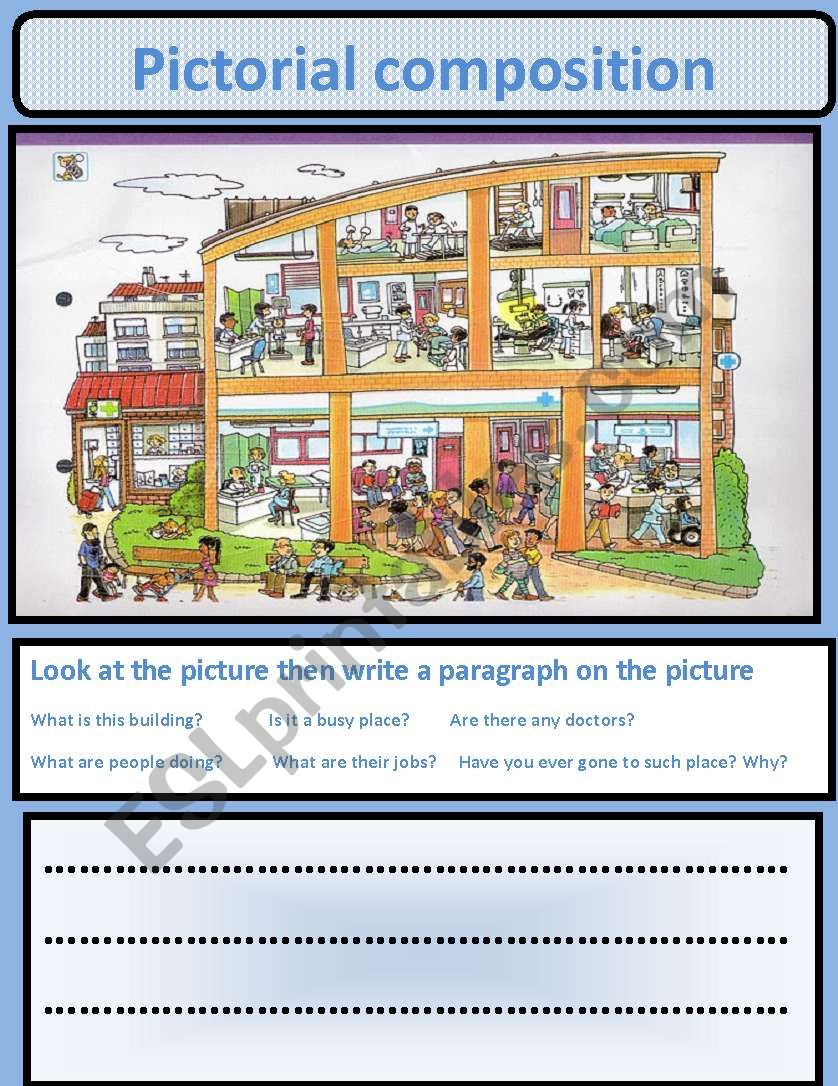 pictorial composition esl worksheet by nora85. Black Bedroom Furniture Sets. Home Design Ideas