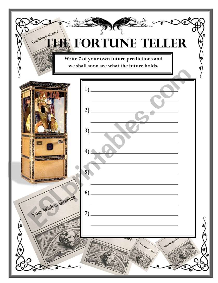 Future Predictions - The Fortune Teller Wksht #2
