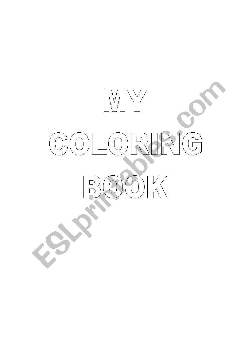 My COLORING BOOK worksheet