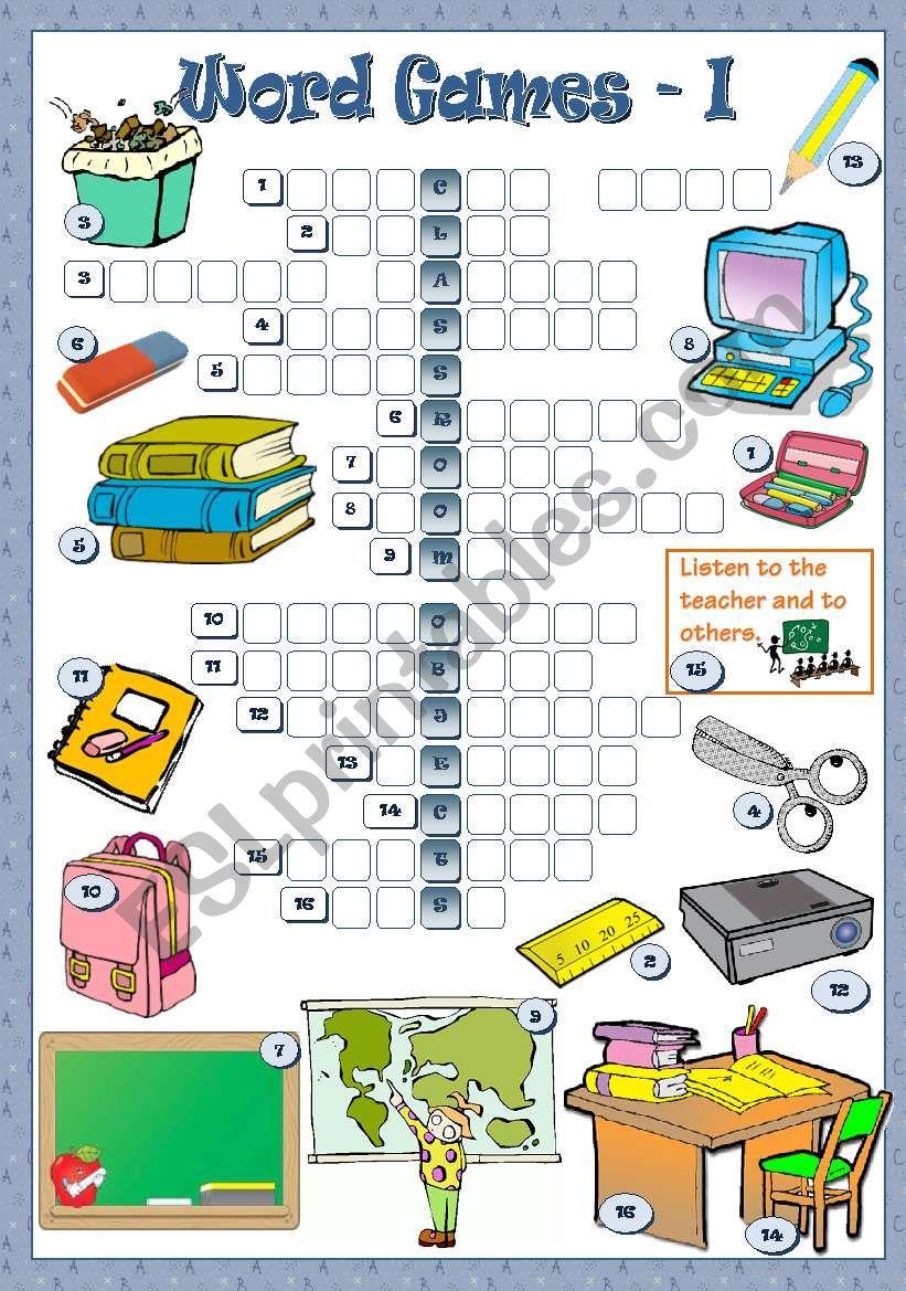 WORD GAMES - I worksheet