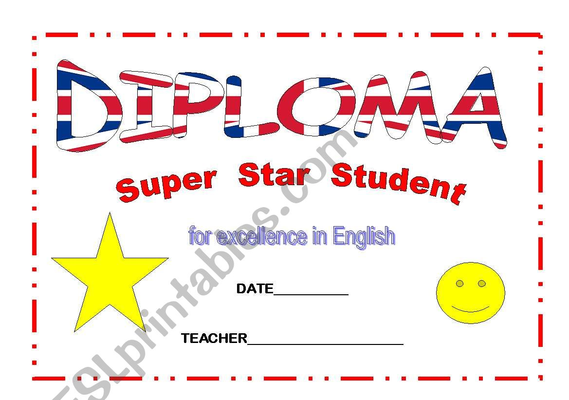 DIPLOMA SUPER STUDENT worksheet