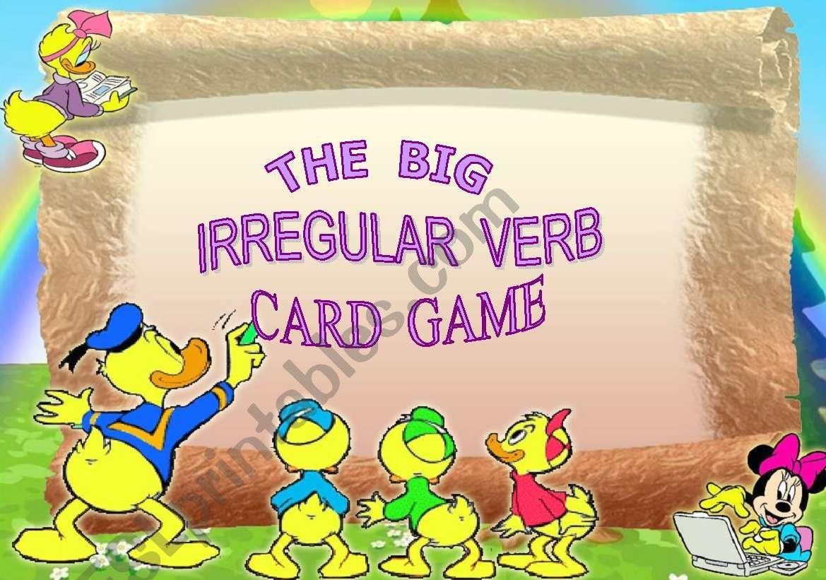 The Big Irregular Verb Card Game - Set 1