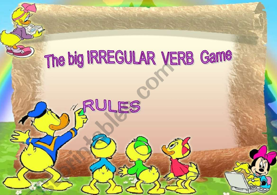 The Big Irregular Verb Card Game - Rules