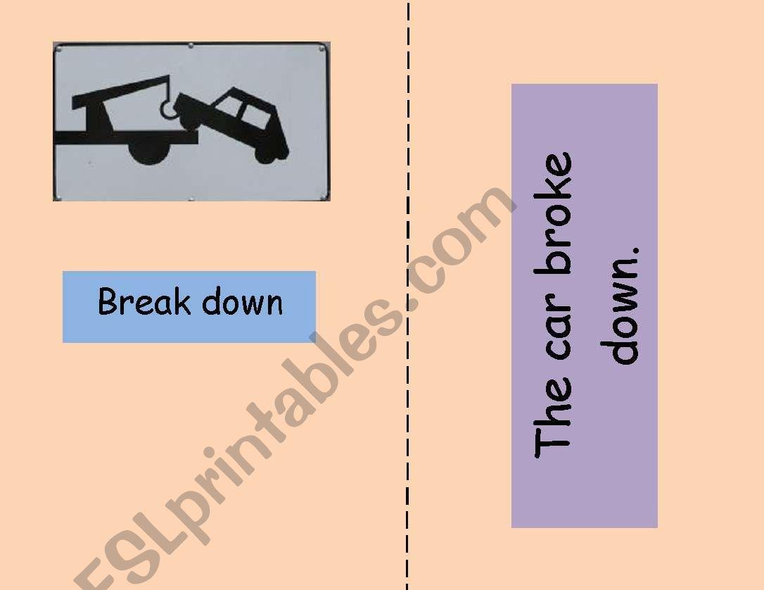 Phrasal verbs flashcards 1/3 worksheet