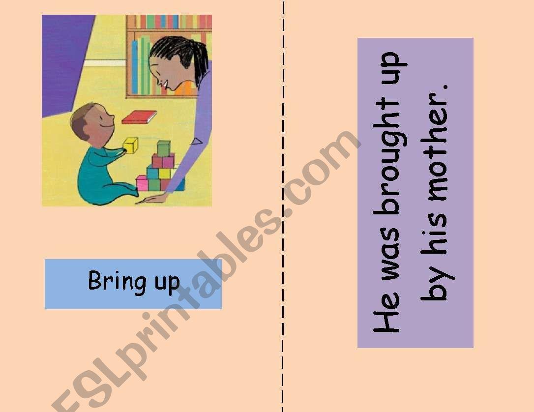Phrasal verb flashcards 3/3 worksheet