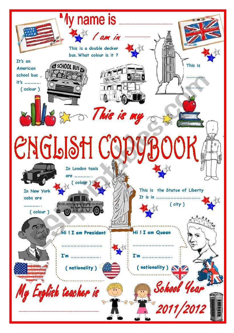 COPYBOOK COVER worksheet