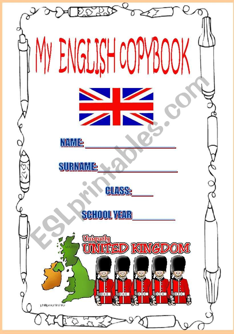 COVER FOR COPYBOOK worksheet