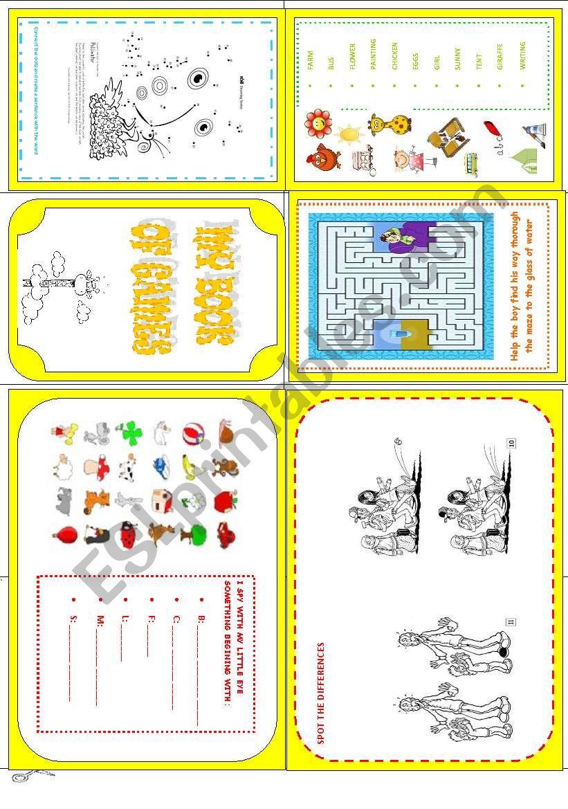 MY BOOK OF GAMES  worksheet