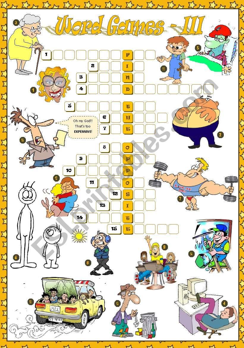 WORD GAMES - III worksheet