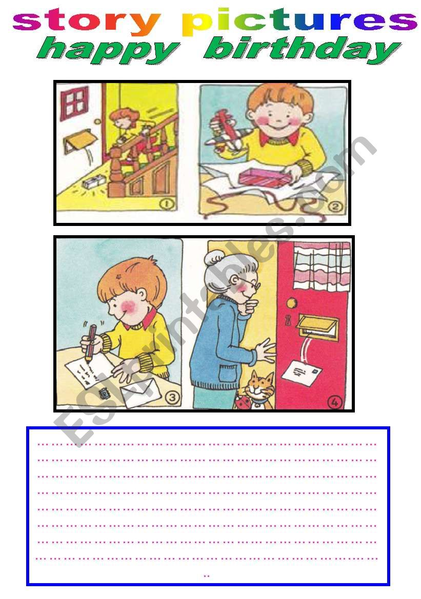 story pictures worksheet