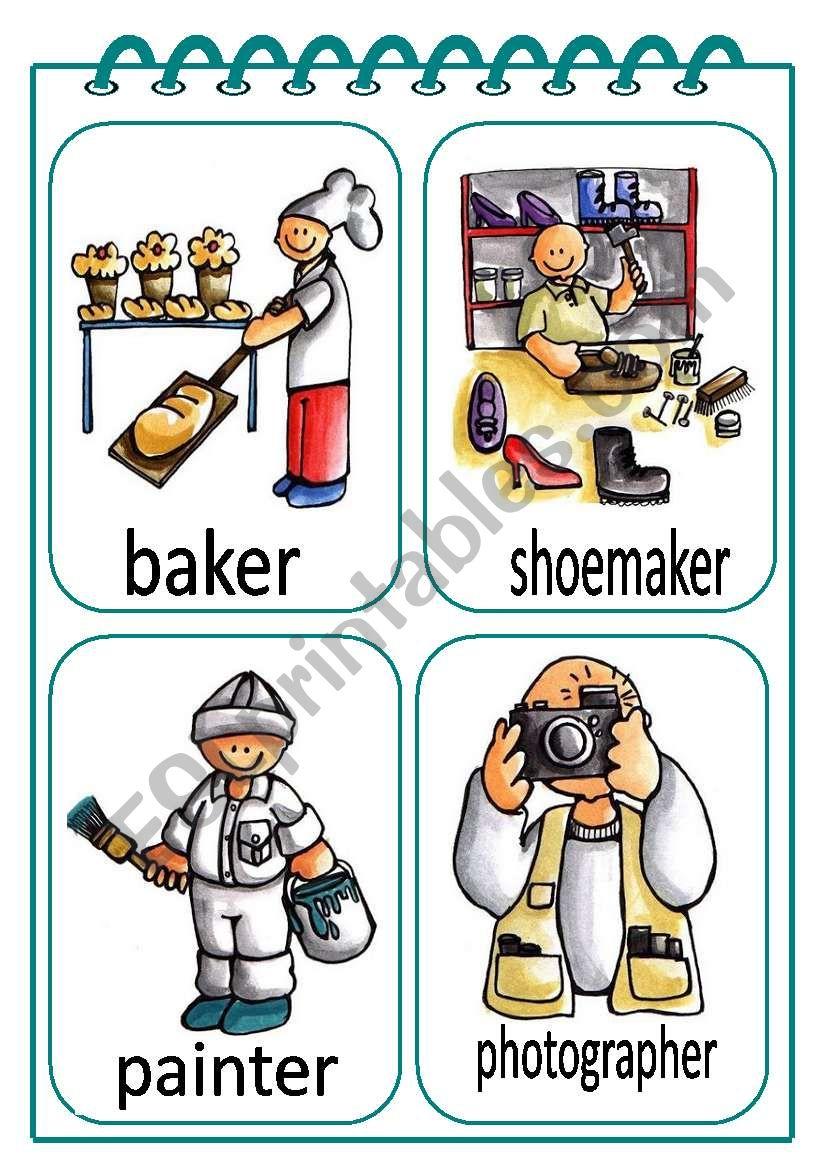 Job Flash-cards worksheet