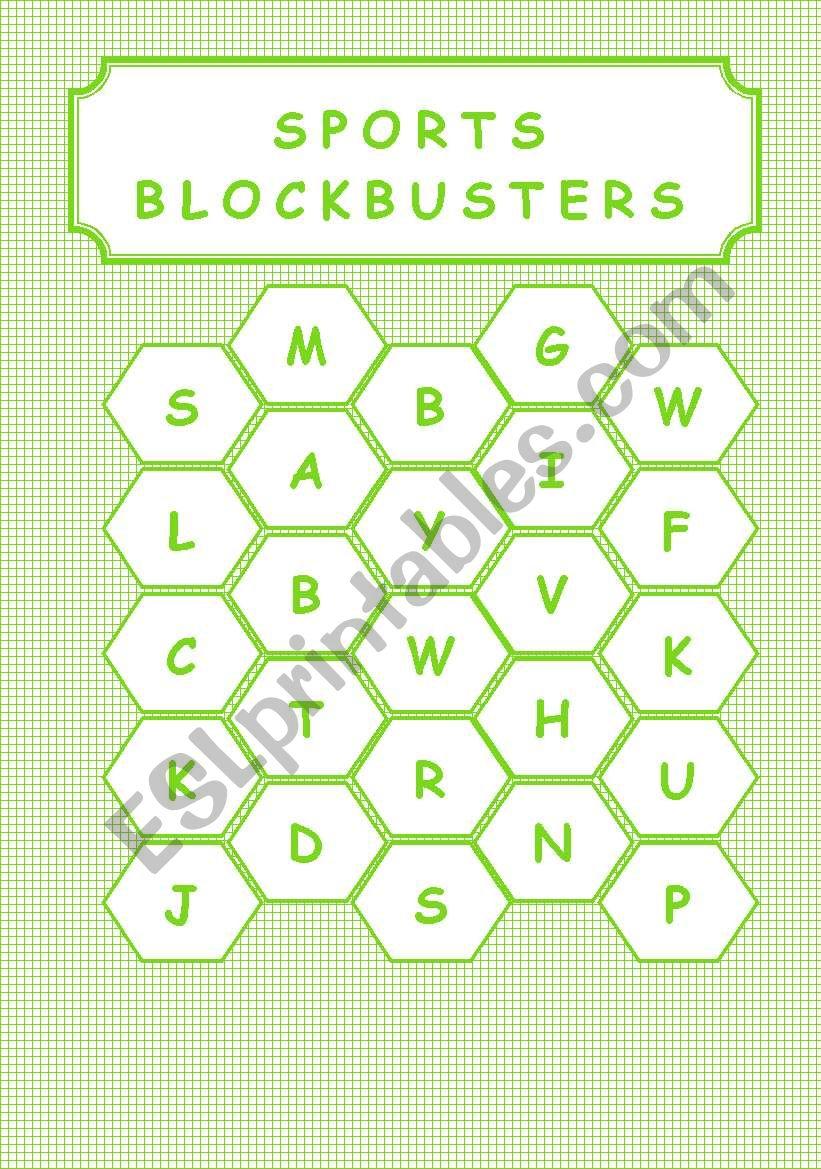 SPORTS - BLOCKBUSTERS worksheet