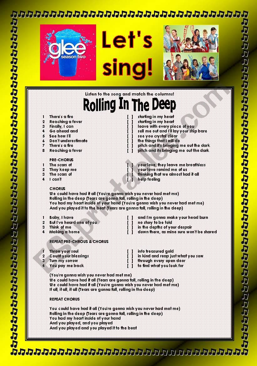 > Glee Series: Season 2! > Songs For Class! S02E20 *.* Three Songs *.* Fully Editable With Key! *.* Part 1/2