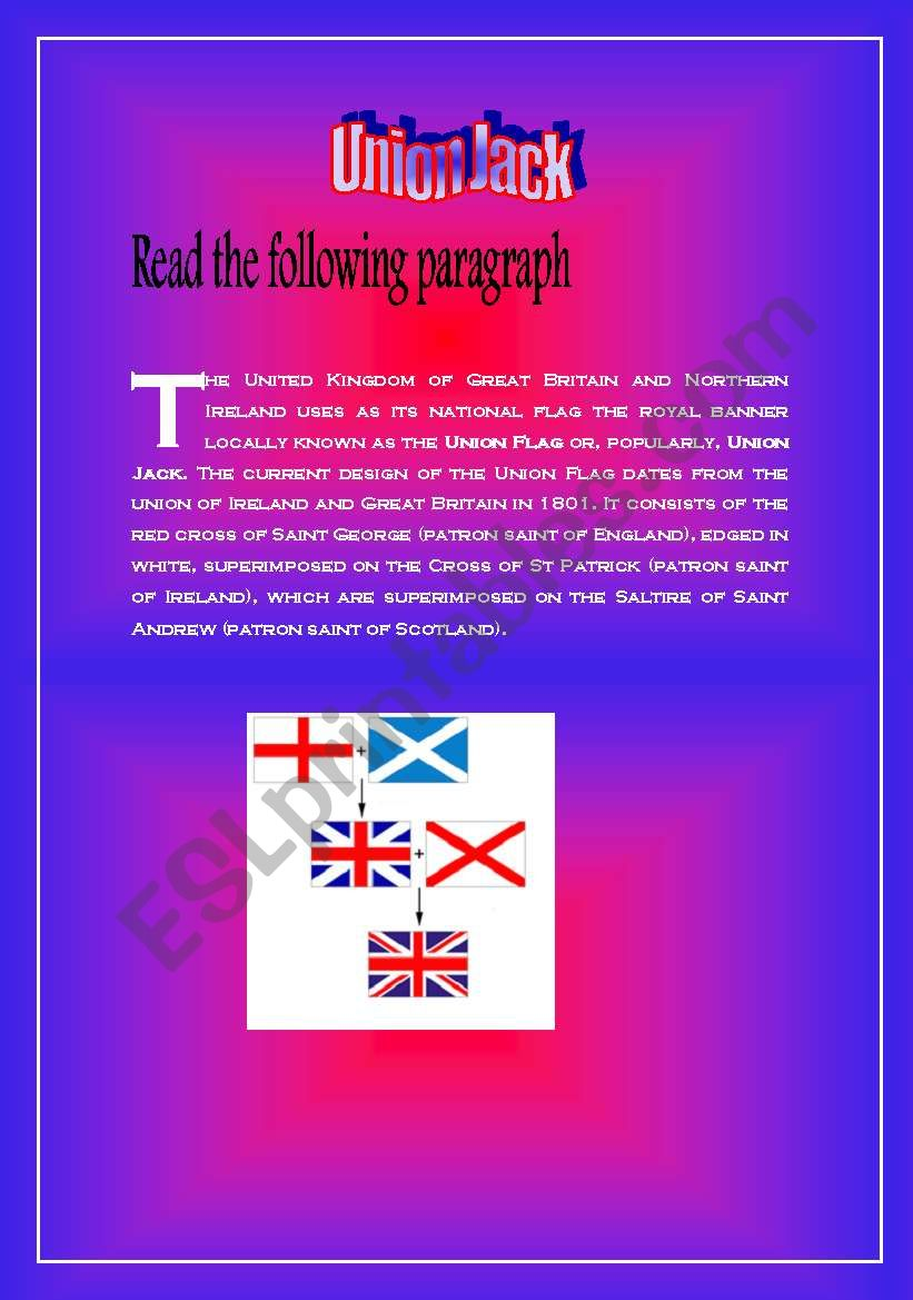 Union Jack worksheet