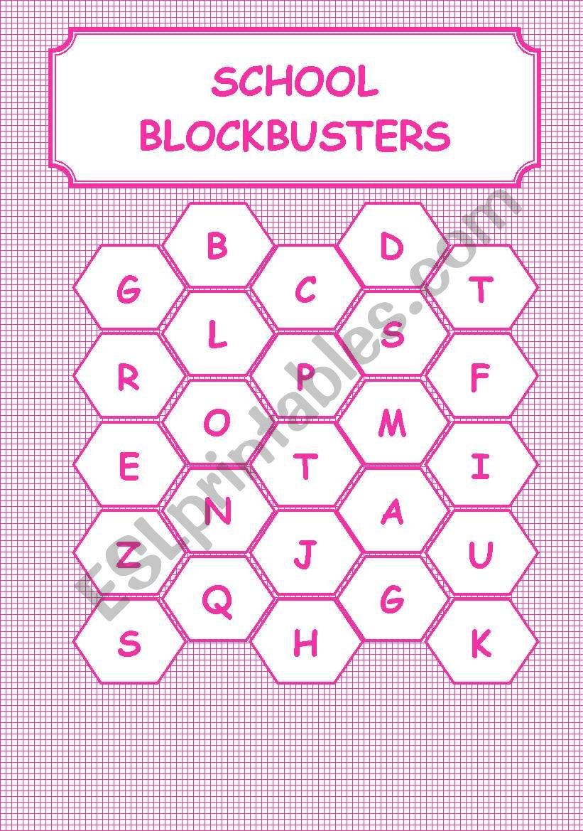 SCHOOL-BLOCKBUSTERS worksheet