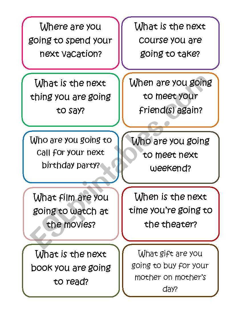 (Speaking Cards) What are you going to do?
